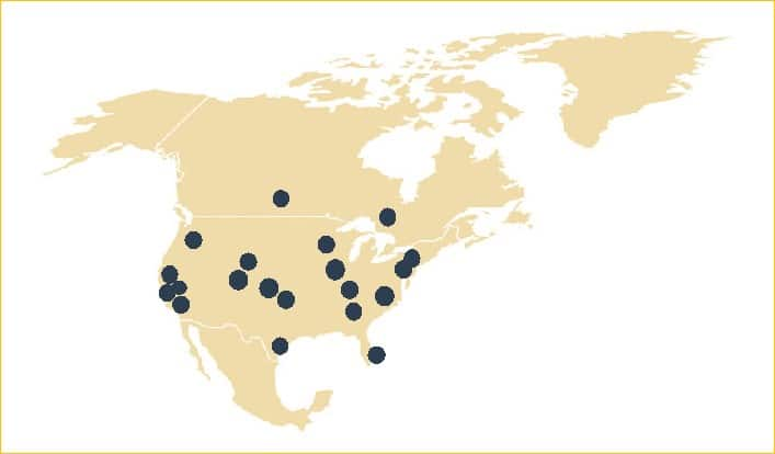 Caravel Coverage Map in the US